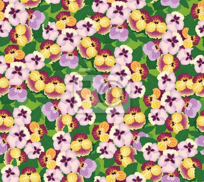 nahtlose Muster mit lila und gelbe Stiefmütterchen, Hintergrund