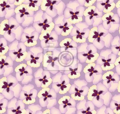 nahtlose Muster mit rosa Stiefmütterchen, Hintergrund-, Druck-