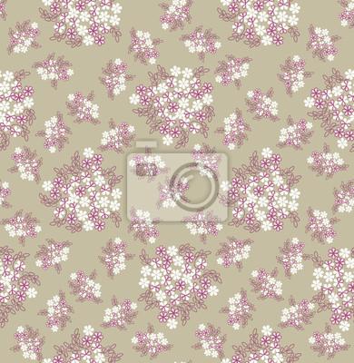 nahtlose Muster mit weißen Blumen, Hintergrund-, Druck-