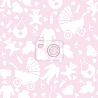 Nahtlose Rosa Baby Hintergrund