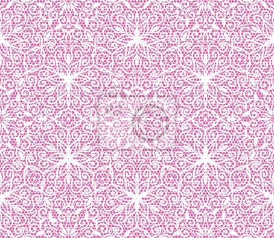 nahtlose Spitze Blumenmuster auf rosa Hintergrund