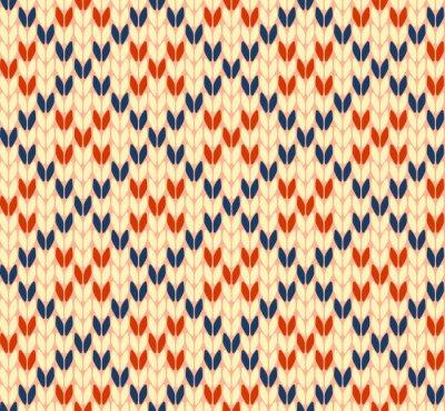 Poster Nahtlose Strick-Vektor-Muster