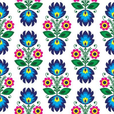 Poster Nahtlose traditionellen Blumenmuster Lack - ethnischen Hintergrund