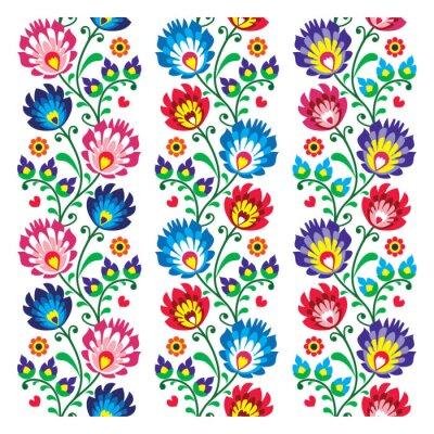 Poster Nahtlose traditionellen Volkslack-Muster - nahtlose Stickerei