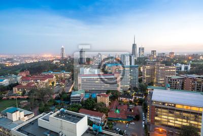 Poster Nairobi Stadtlandschaft - Hauptstadt von Kenia