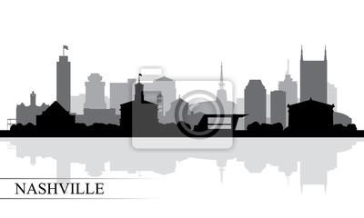 Nashville-Stadtskylineschattenbildhintergrund