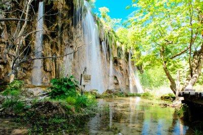 Poster Nationalpark Plitvicer Seen in Kroatien