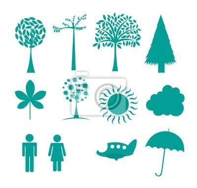 Poster Natur-Symbole