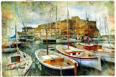 Neapel, Italien, künstlerische Bild