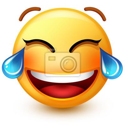 Nettes Lachendes Gesicht Emoticon Oder 3d Smiley Emoji Lachend