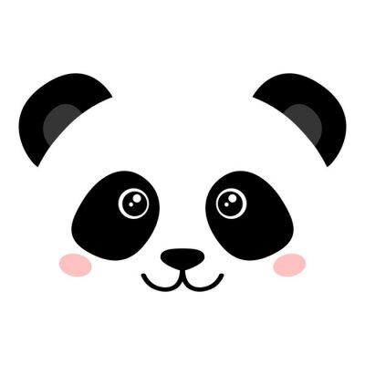 Poster Nettes Pandagesicht
