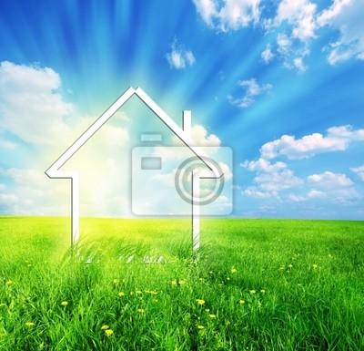 Neue Heimat Phantasie auf der grünen Wiese