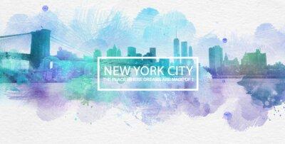 Poster New York City ist, wo Träume gemacht werden Postkarte