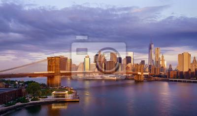 Poster New York City Sonnenaufgang