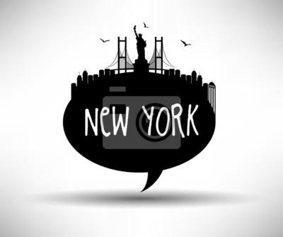 New York City Speech Bubble Design-