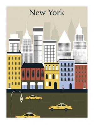 Poster New York City. Vektor