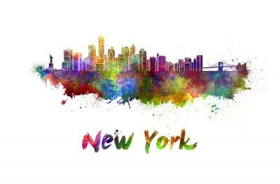 Poster New York Skyline in Wasserfarbe