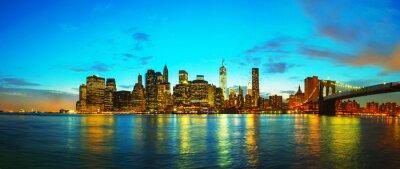 New York Stadtbild bei Sonnenuntergang