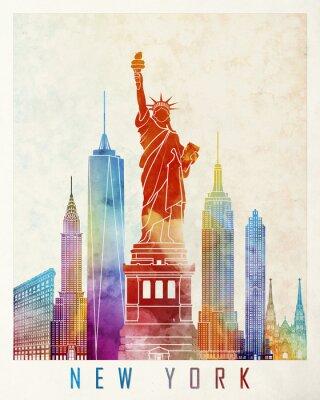 New York Wahrzeichen Aquarell Poster