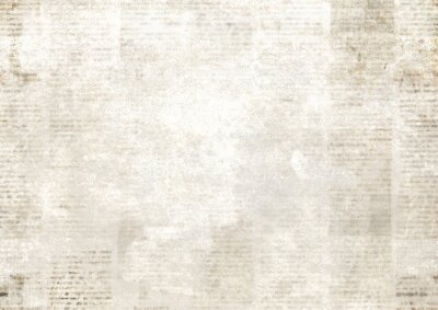 Poster Newspaper with old grunge vintage unreadable paper texture background