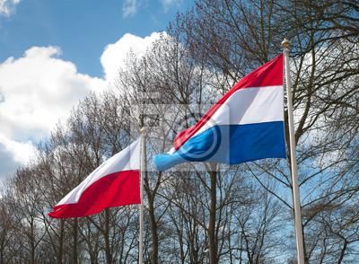 Niederländisch und Polnisch Flagge