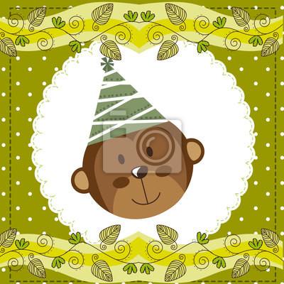 Poster niedlichen Affen