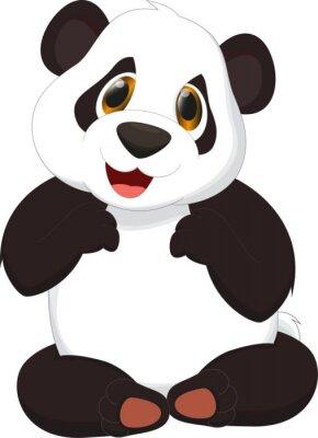Poster niedlichen Panda Cartoon
