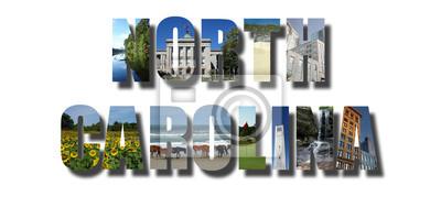 North Carolina banner on white