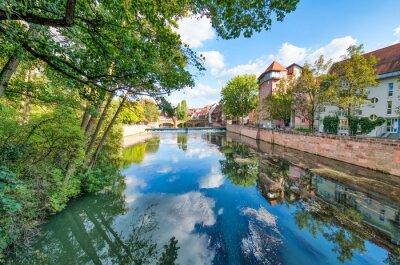 Nurnberg buildings along Pegnitz River, Germany