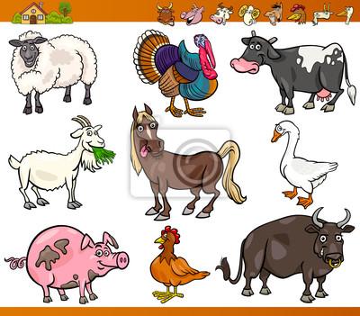 Nutztieren cartoon wandposter • poster Bullock, schlammigen, ox ...