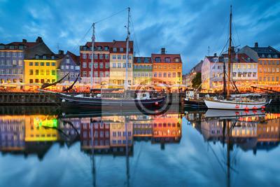 Nyhavn in Kopenhagen, Dänemark