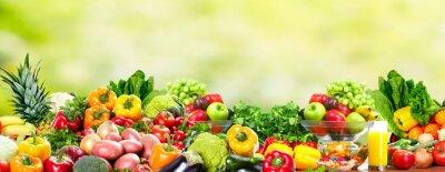 Poster Obst und Gemüse.