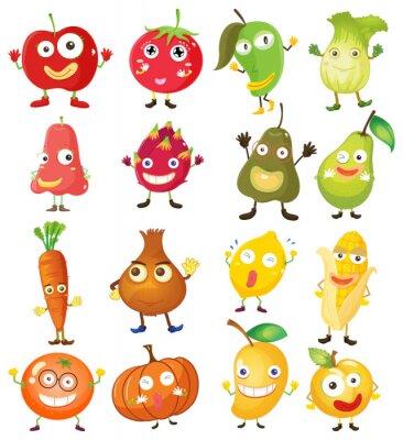 Poster Obst und Gemüse mit Gesicht