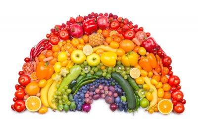 Poster Obst- und Gemüseregenbogen