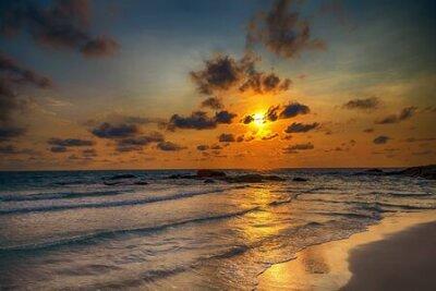 Poster ocean beach sunrise atlantic Dominican republic