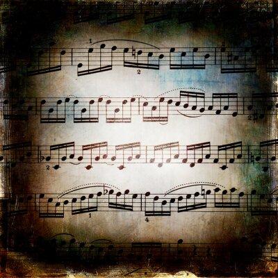 Poster Od musikalischen Textur Grunge