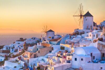 Poster Oia Sonnenuntergang, Insel Santorin, Griechenland