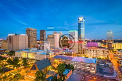 Poster Oklahoma City, Oklahoma, USA Skyline