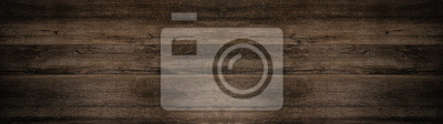 Poster old brown rustic dark wooden texture - wood background panorama long banner