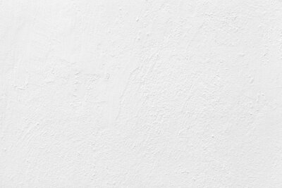 Poster Old cement wall painted white texture and seamless background