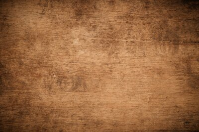 Poster Old grunge dark textured wooden background , The surface of the old brown wood texture , top view teak wood paneling.