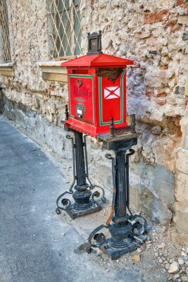 Old post box in Budapest old town