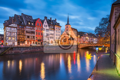 Old town of Strasbourg, France with Christmas decorations