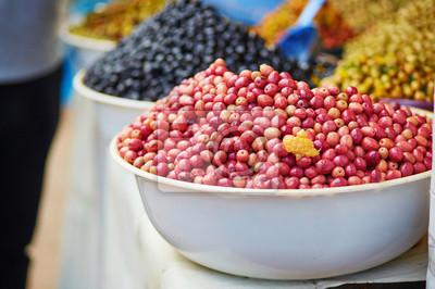 Oliven auf marokkanischen Markt (Souk) in Essaouira, Marokko