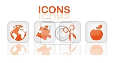 Poster Orange Icons