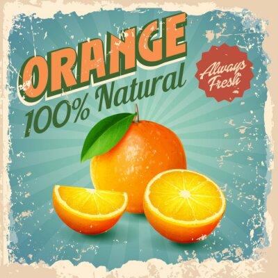 Poster orange Weinlese