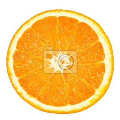 Poster Orangenscheibe