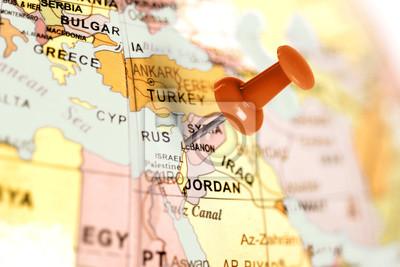 Ort Libanon. Auf der Karte Red Pin.