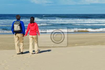 Paar am Meer Strand, romantischen Urlaub in Südafrika
