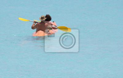 Paar auf der Lagune